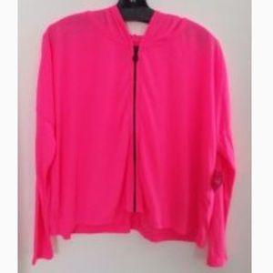 Pink plus size jacket women's size 2x